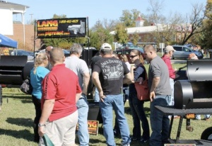 Checking out the Lang BBQ Smoker