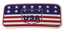 Made in the U.S.A. sign on all Lang BBQ Smoker Cookers