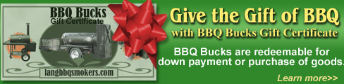 Lang BBQ Bucks for Christmas