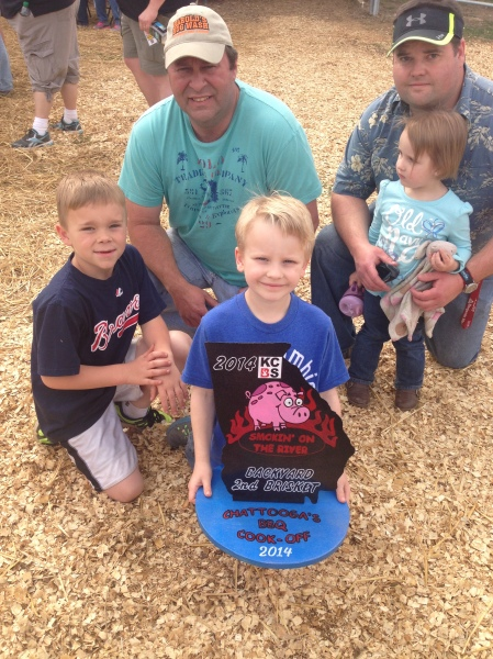 2nd place Brisket Winners at the Chattooga BBQ Cook-Off in 2014